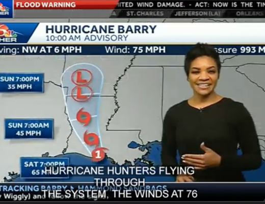 Tropical storm: Barry